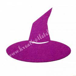 Filc boszorkány kalap, lila