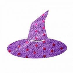 Flitteres dekorgumi boszorkány kalap