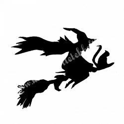 Dekorgumi boszorkány seprűn