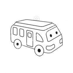 Festhető forma matricafestékhez, busz