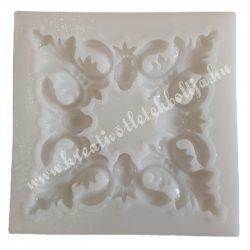 Marcipán, fondant mintázó, szilikon, inda négyzet, 6,5 cm