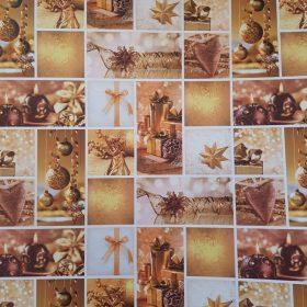 Karácsonyi karton, scrapbook papír