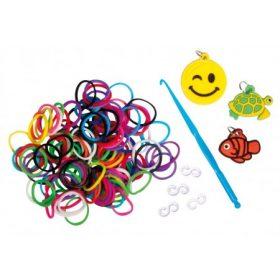 Loom Bands- Gumigyűrű, szilikon medál-charm