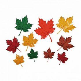 Dekorgumi és parafa levelek