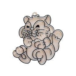 Festhető forma matricafestékhez, ülő cica fekete kontúrral