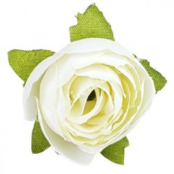 Dekor virágfej, fehér, 3 cm