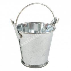 Bádog vödör, ezüst, 4x5,5 cm