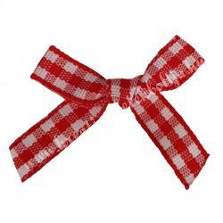 Masni, piros kockás,  4x3 cm