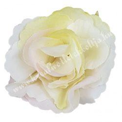 Fodros mini rózsafej, cirmos krém, 4 cm