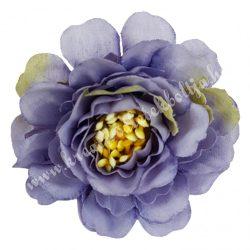 Fodros virágfej, lila, 4 cm
