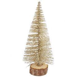 Fenyőfa, csillámos, pezsgő, 14 cm