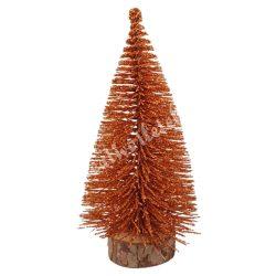Fenyőfa, csillámos, bronz, 24 cm