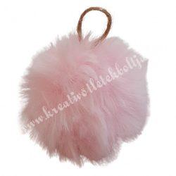 Akasztós pihe-puha pompon, rózsaszín, 6 cm