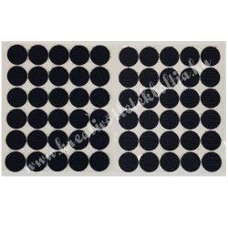Tépőzár korongok, fekete, 2 cm, 30 db/csomag