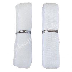 Tépőzár, fehér, 2 cm x 1 méter/csomag