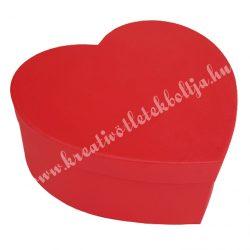 Szív alakú doboz, piros, 15,5x6 cm