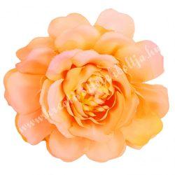 Fodros virágfej, barack, 4 cm