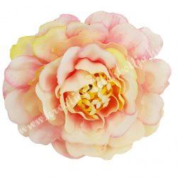 Fodros virágfej, cirmos rózsaszín, 4 cm