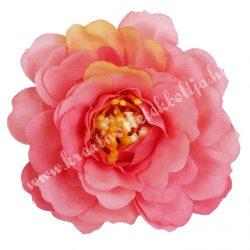 Fodros virágfej, sötétpink, 4 cm