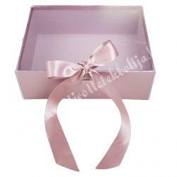 Delux ajándékdoboz, rózsaarany, 22x17x8 cm