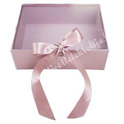 Delux ajándékdoboz, rózsaarany, 24,5x19x10 cm
