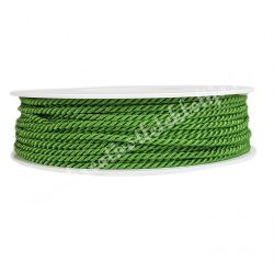 Sodrott zsinór, zöld, 3 mm