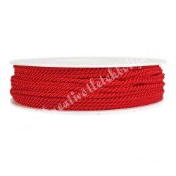 Sodrott zsinór, piros, 3 mm