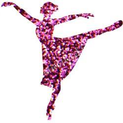Csillámtetoválás festősablon, balerina