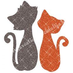 Csillámtetoválás festősablon, cicák
