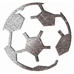 Csillámtetoválás festősablon, focilabda