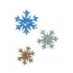 Csillámtetoválás festősablon, hópelyhek
