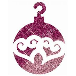 Csillámtetoválás festősablon, karácsonyi gömb