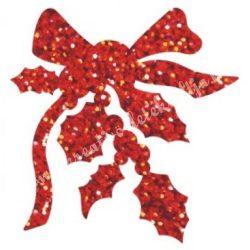 Csillámtetoválás festősablon, karácsonyi masni