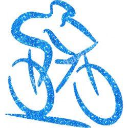 Csillámtetoválás festősablon, kerékpáros