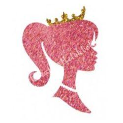 Csillámtetoválás festősablon, királylány