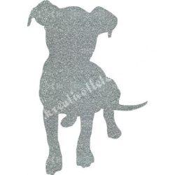Csillámtetoválás festősablon, kutya