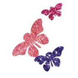 Csillámtetoválás festősablon, pillangók