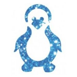 Csillámtetoválás festősablon, pingvin
