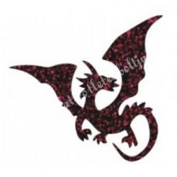Csillámtetoválás festősablon, sárkány