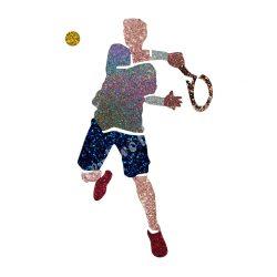 Csillámtetoválás festősablon, teniszező