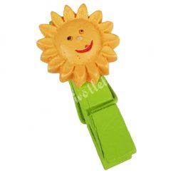 Csipeszes mosolygós virág, narnacs, 2x3,5cm