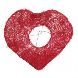 Csokortartó, szív alakú, piros, 20x20 cm