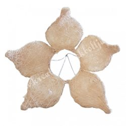 Csokortartó, virág alakú, krém, 15x15 cm