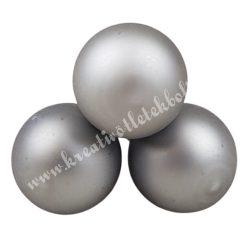 Betűzős üveggömb, titán szürke, matt, 3 db/csokor, 2 cm
