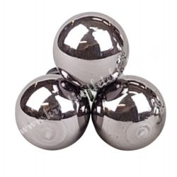 Betűzős üveggömb, titán szürke sötét, fényes, 3 db/csokor, 2 cm
