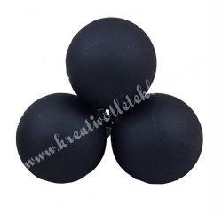 Betűzős üveggömb, fekete, matt, 2 cm, 3 db/csokor