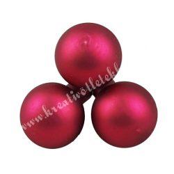Betűzős üveggömb,  málnapiros, matt, 2 cm, 3 db/csokor
