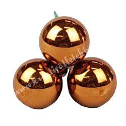 Betűzős üveggömb, bronz fényes, 3 db/csokor