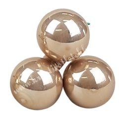 Betűzős üveggömb, gyömbér, fényes, 3 db/csokor