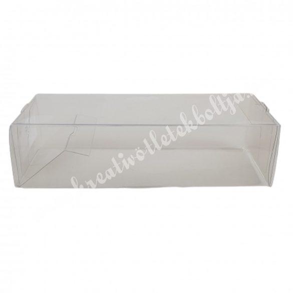 Műanyag doboz, téglalap, 15x4 cm